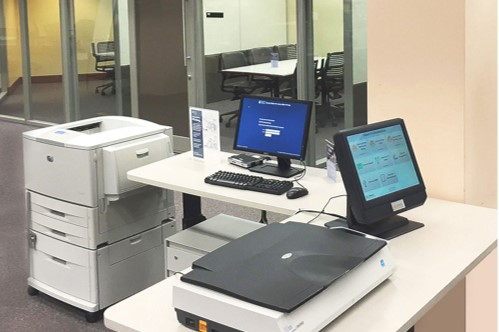 Cline Library Printing Station