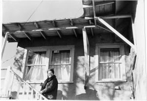 Mary Mier Cisterna, 217 S. San Francisco Street, circa 1978.  Photo courtesy Colorado Plateau Vertical Files.
