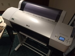 Our Epson Stylus Pro 7880 printer can print images as wide as 24 inches but infinitely long