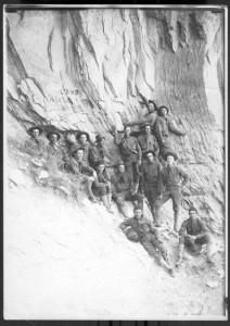 World I Soldiers at Grand Canyon, 1917 ca. NAU.PH.568.8198