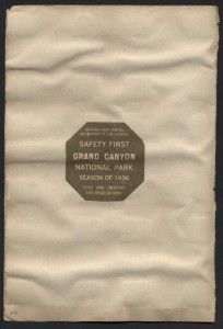 Grand Canyon National Park Pass, 1936