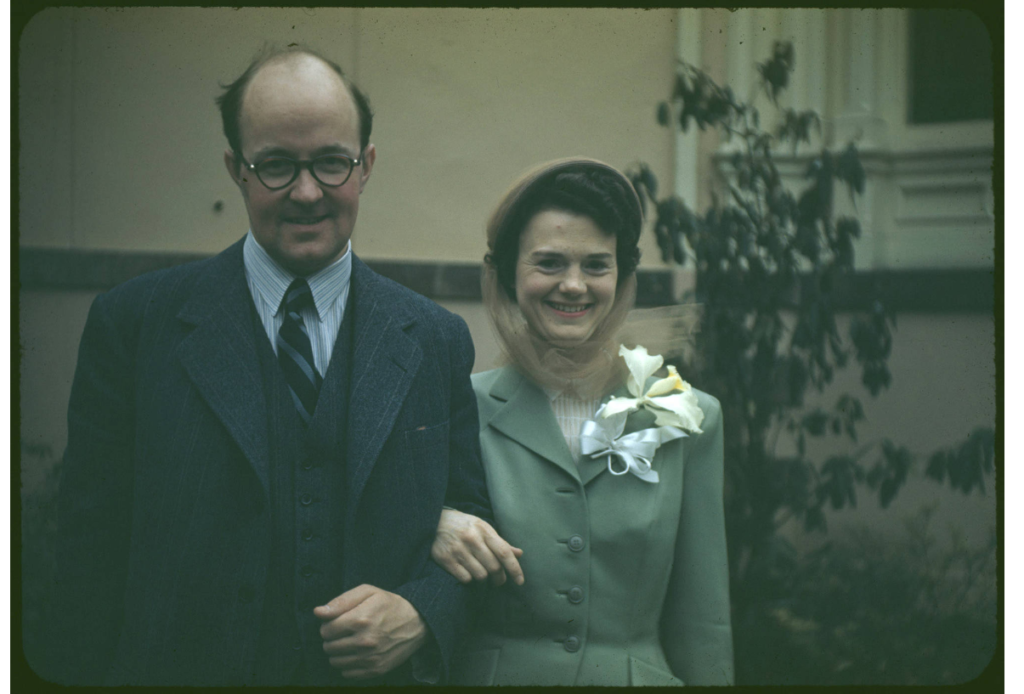 K. Alexander Brownlee and Dorothy Hamre at their wedding in 1949, New Jersey.