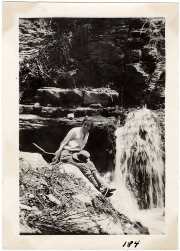 """Roaring Springs - in the Grand Canyon [Barbara McKee]</br><a href=""""http://cdm16748.contentdm.oclc.org/cdm/ref/collection/cpa/id/124623"""" target=""""_blank"""">Barbara and Edwin McKee Collection NAU.PH.95.48.191</a>"""