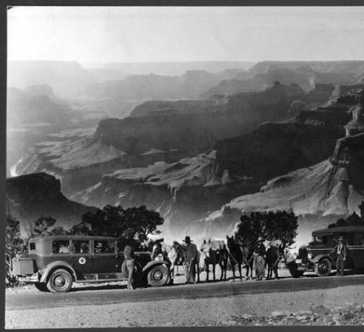 """Fred Harvey cars and wagons</br><a href=""""http://archive.library.nau.edu/cdm/ref/collection/cpa/id/56067"""" target=""""_blank"""">Fred Harvey (Firm) Collection NAU.PH.95.44.56.4</a>"""