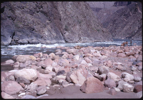"""Crystal Rapids, Colorado River, Grand Canyon. </br><a href=""""http://archive.library.nau.edu/cdm/ref/collection/cpa/id/13654"""" target=""""_blank"""">Margaret Eiseman Collection NAU.PH.2004.8.2.42.1</a>"""