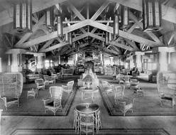 "Grand Canyon Hotel Lounge Toward Office. [North Rim.] </br><a href=""http://archive.library.nau.edu/cdm/ref/collection/cpa/id/2241"" target=""_blank"">NAU General Photographs Collection NAU.PH.2000.8</a>"