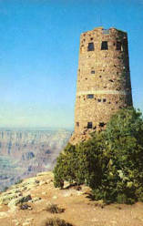 "The Hopi Watch Tower on the rim of the Grand Canyon of Arizona. [The Watchtower at Desert View.] </br><a href=""http://archive.library.nau.edu/cdm/ref/collection/cpa/id/46378"" target=""_blank"">Fronske Studio Collection NAU.PC.85.3.1.32</a>"