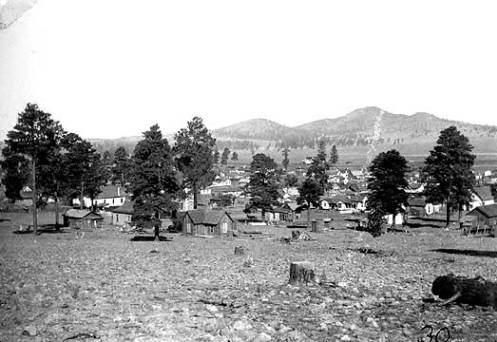"View of Williams, Arizona looking southeast ca. 1893</br><a href=""http://cdm16748.contentdm.oclc.org/cdm/ref/collection/cpa/id/22555"" target=""_blank"">A.A. Coupland Collection 	NAU.PH.663.1.29</a>"