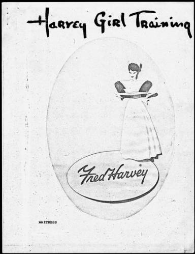 "Harvey Girl Training [waitress manual].</br><a href=""http://archive.library.nau.edu/cdm/ref/collection/cpa/id/43575"" target=""_blank"">Fred Harvey (Firm) 	nm280g000s002b006f0110</a>"