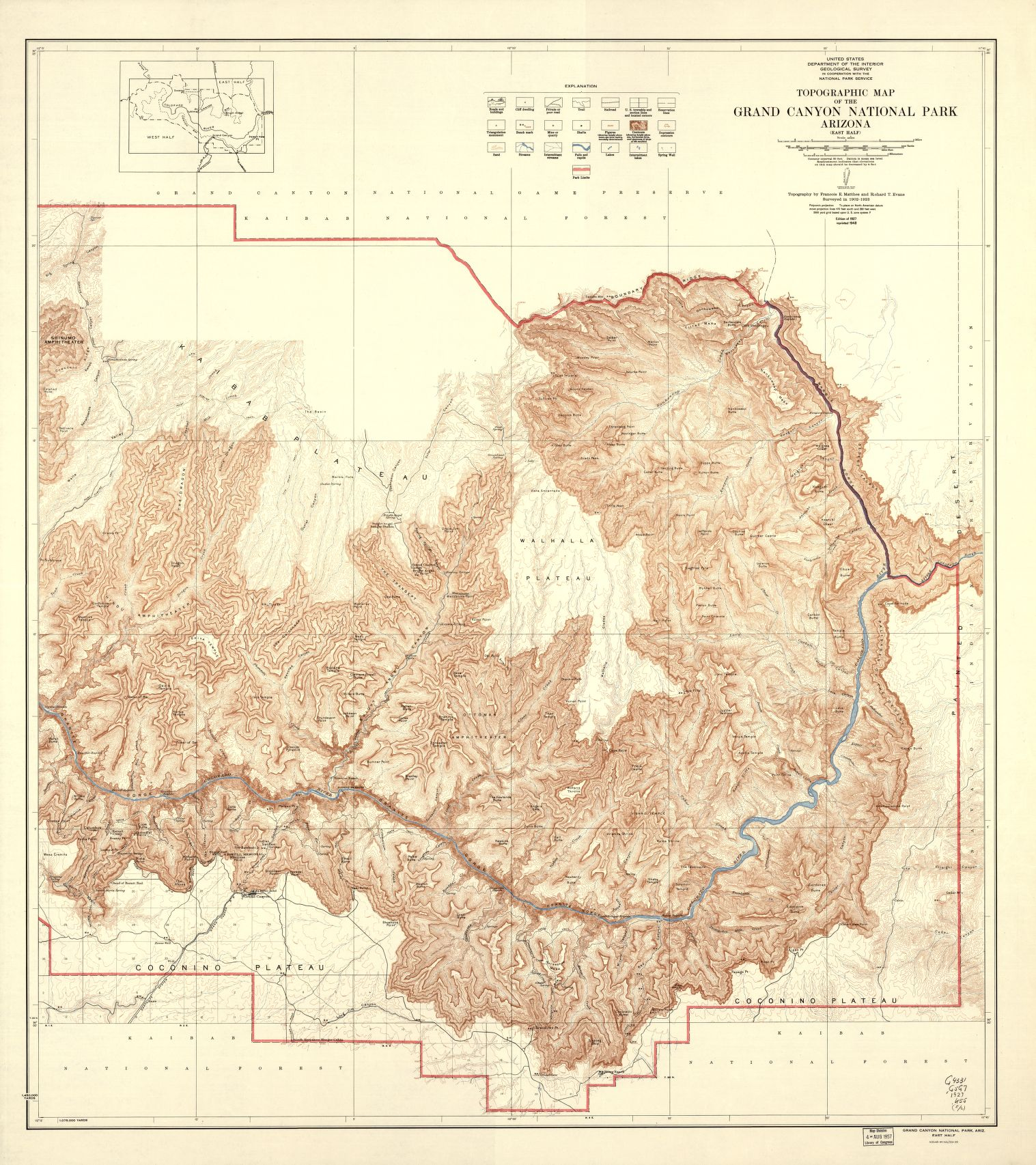 "Topographic Map Grand Canyon National Park Arizona (East Half) </br><a href=""http://www.azarchivesonline.org/xtf/view?docId=ead/nau/NAU_national_park_maps.xml"" target=""_blank"">National Parks Map Collection, NAU.MAP.101.1</a>"