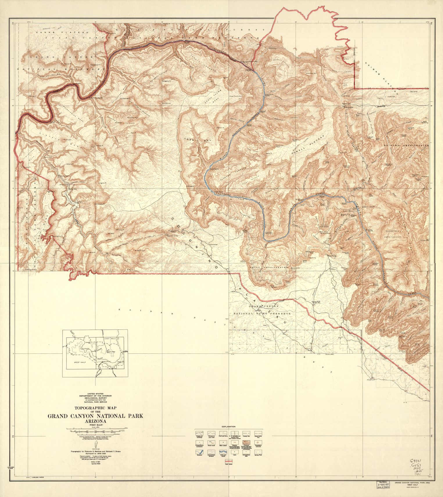 "Topographic Map Grand Canyon National Park Arizona (East Half) </br><a href=""http://www.azarchivesonline.org/xtf/view?docId=ead/nau/NAU_national_park_maps.xml"" target=""_blank"">National Parks Map Collection, NAU.MAP.101.2</a>"