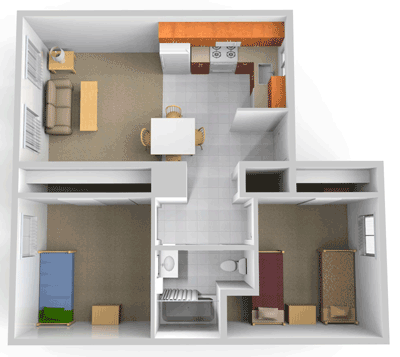 Single Bedroom Apartment Layout