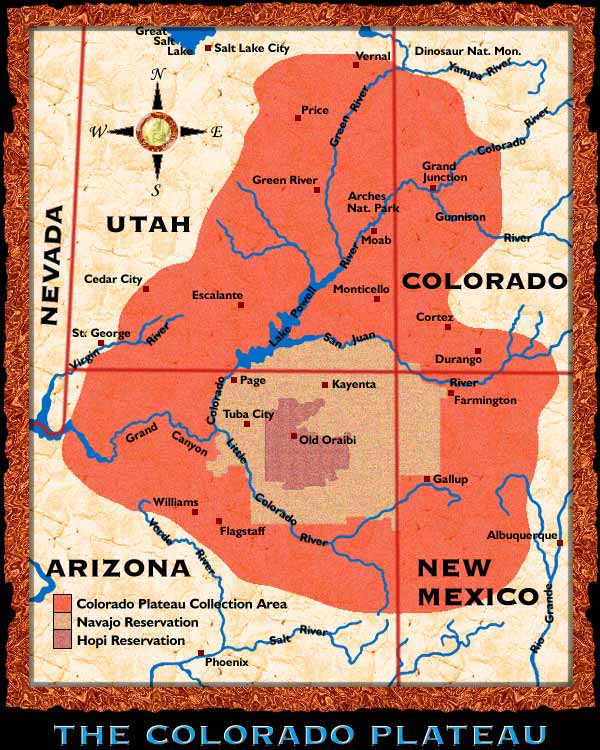 Bill Belknap ExhibitColorado Plateau Map
