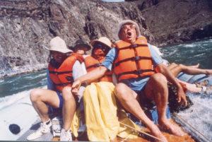 Bennett Family on Colorado River Trip, 1986