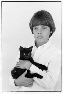 Tyler Bennett with Kitten, ca. 1983