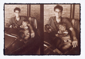 Stephen Bennett with Son Charlie, 2001