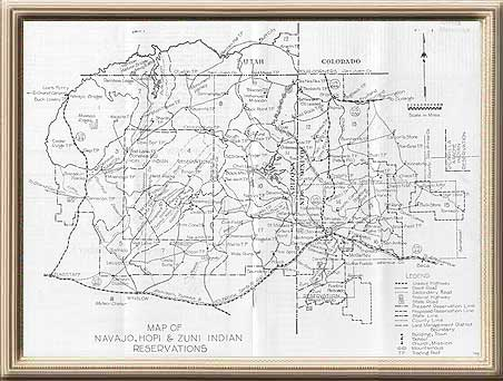 Navajo Reservation Arizona Map.Traders Map Of Reservation Lands