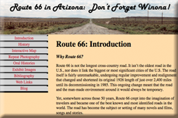 Route 66 in Arizona Exhibit