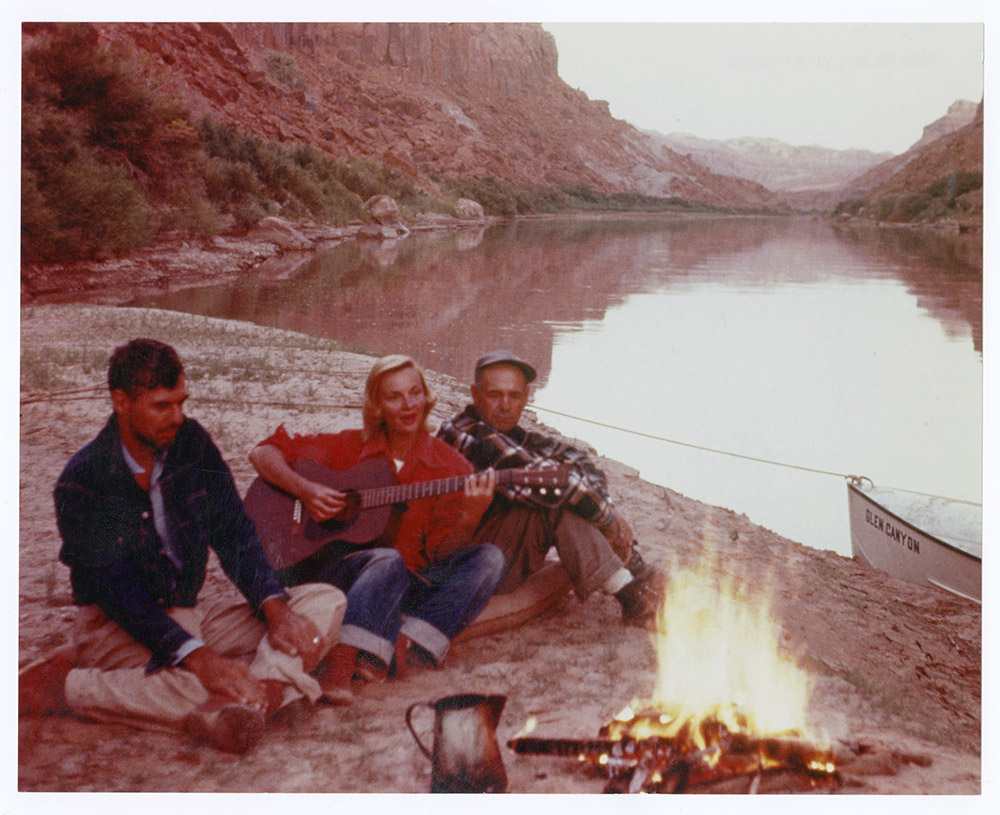 We Three By a Campfire in Glen Canyon