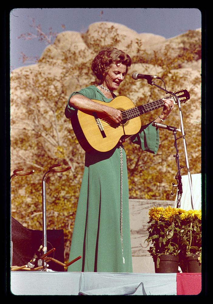 Katie Lee performing