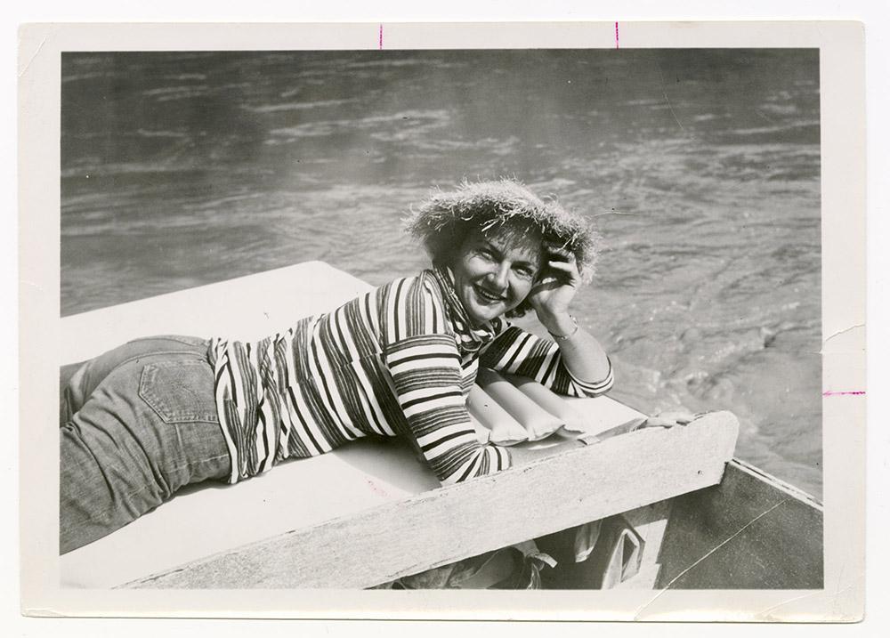 Katie Lee on boat