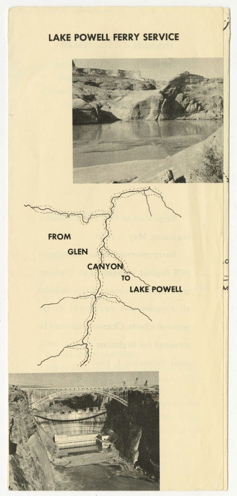 Lake Powell Ferry Pamphlet
