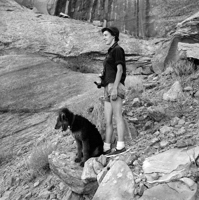 Rita Plahetka with Dog