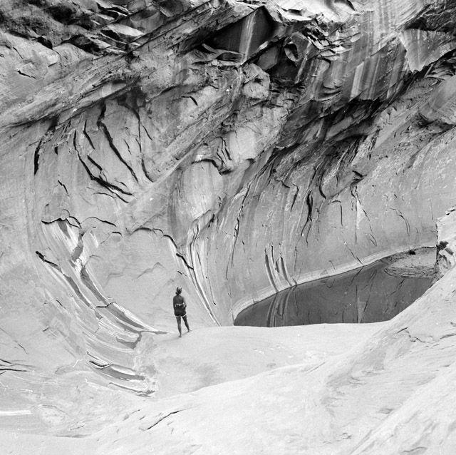 Katie Lee in Iceberg Canyon
