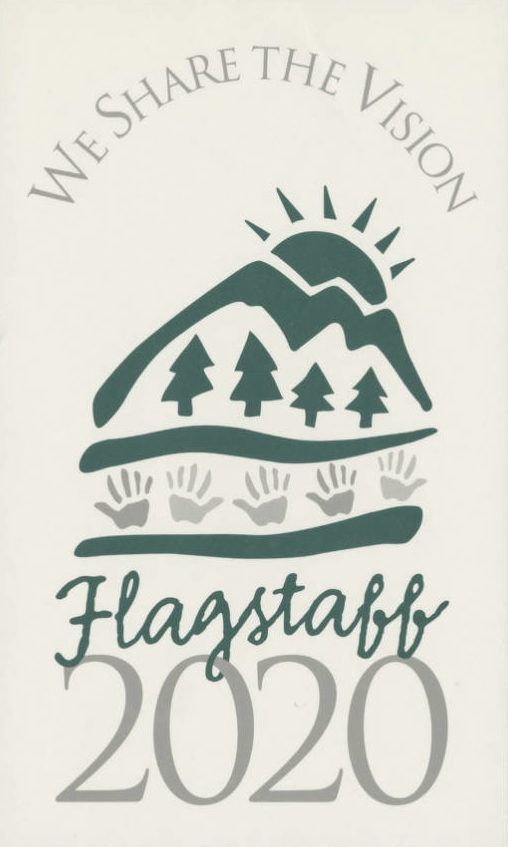 We Share the Vision Flagstaff 2020 sticker