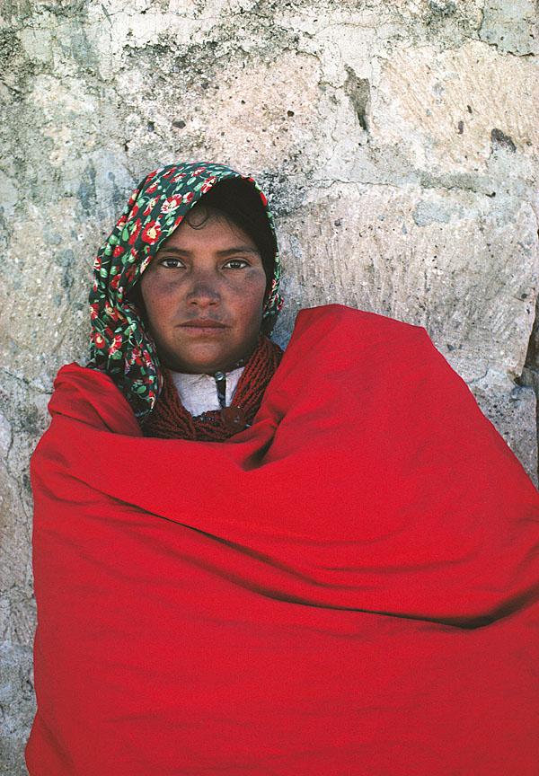 Tarahumara Girl in Red Blanket